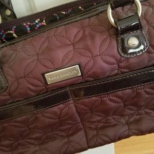 Vera Bradley Purse Quilted plum purse